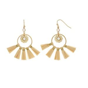 2/$12 NEW LC Gold Tone Tassel Earrings